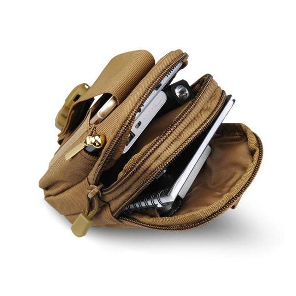 蛇便攜K型戰術小腰包 5.5寸大屏手機腰包掛包登山騎行運動腰包【快速出貨八折優惠】