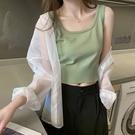吊帶背心女夏心機打底潮外穿短款修身針織顯瘦內搭無袖上衣 易家樂