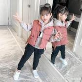 女童三件套秋冬裝2018新款洋氣兒童裝冬季中大童小女孩加厚套裝 漾美眉韓衣