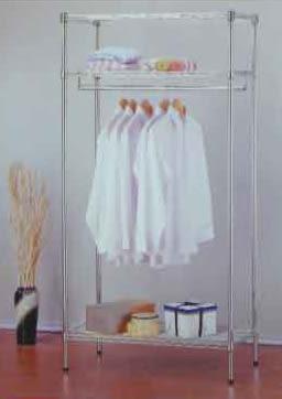 【南洋風休閒傢俱】臥室系列-90公分(3尺)衣櫥架 鍍鉻波浪衣櫥架 電鍍雙層衣架 760-12