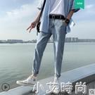 男士牛仔褲春秋款韓版潮流寬鬆直筒夏季九分長褲潮牌修身小腳褲子 小艾新品
