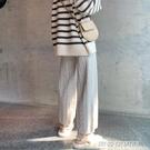 針織褲 褲子女秋冬新款毛線奶奶褲顯瘦百搭休閒褲寬鬆直筒針織闊腿褲 傑克