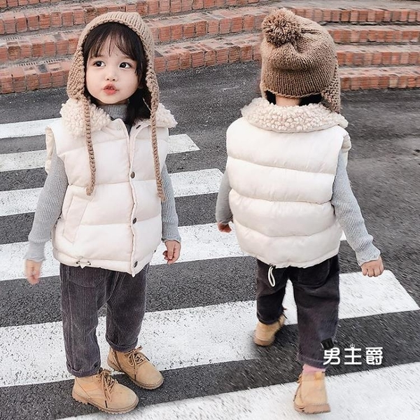 兒童背心 棉秋冬裝加厚男童女童寶寶羽絨棉馬甲中小童保暖棉服外套