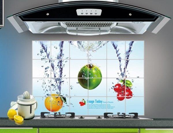 特大 廚房壁貼 防油 防水【水果 】貼紙 防油貼【A5201】