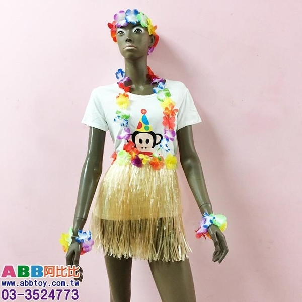 A0157_向陽花夏威夷花圈_50cm#夏威夷花圈草裙啦啦隊彩球啦啦球加油棒