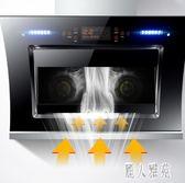 220V油煙機家用廚房壁掛雙電機自動清洗側吸式吸油煙機抽煙機 DJ10986『麗人雅苑』