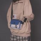 休閒斜背小包女學生帆布袋ins森系文藝側背包韓版百搭日系小方包   極有家