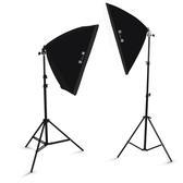 85W攝影燈套裝服裝擺拍拍照道具LED攝影棚柔光燈箱拍攝補光燈【限時八折】