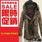 『潮段班』【HJ003186】M-6L大尺碼秋冬加厚歐美保暖中長版連帽外套夾克大衣