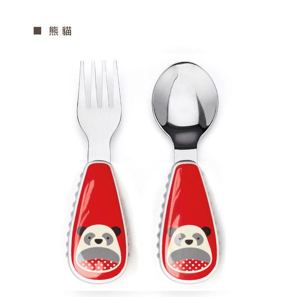 skip*hop可愛動物園餐具叉及匙(熊貓)
