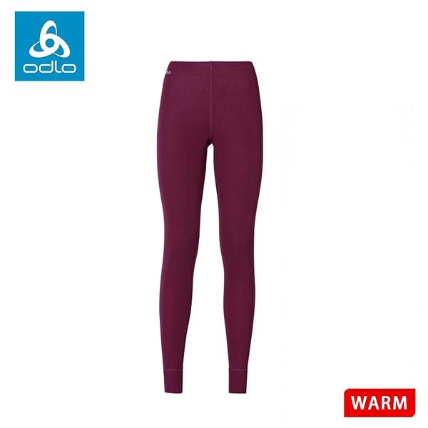 【ODLO 瑞士 女排汗長褲《紫紅》】152041/保暖長褲/內層/衛生褲