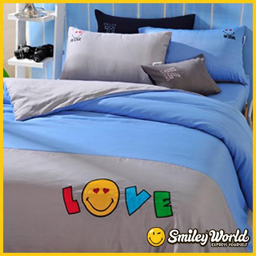 【Smiley World‧微笑世界】nite message‧晚安密語雙人被套床包四件組(In Love)