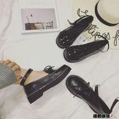娃娃鞋女日系復古圓頭英倫學院風松糕厚底淺口單鞋小皮鞋女夏 運動部落