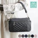 側背包 手感軟皮革線條雙層款兩用斜背包 女包 89.Alley-HB89434