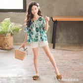 女童套裝 女童裝新款時髦套裝正韓洋氣中大童時尚兒童短褲兩件套潮 童趣潮品