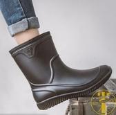 雨鞋男士短筒雨靴防滑中筒時尚套鞋膠鞋防水【雲木雜貨】