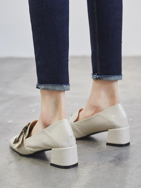 樂福鞋 軟妹英倫小皮鞋女好康春秋新品漆皮粗跟鞋子正韓百搭女士中跟單鞋