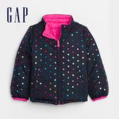 Gap女幼童 彩色波點拉鍊半高領外套 593461-海軍藍圓點