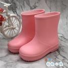 兒童雨鞋幼稚園女童寶寶水鞋男童雨靴防滑水靴【奇趣小屋】