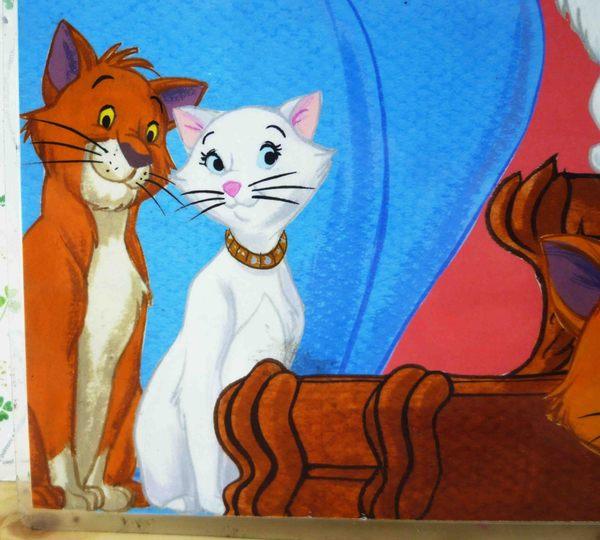 【震撼精品百貨】The Aristocats Marie 迪士尼瑪莉貓~墊子-粉朋友