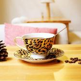 悠家良品 簡約情侶個性馬克杯骨瓷金邊碟套裝歐式陶瓷創意咖啡杯【新店開業全館88折】