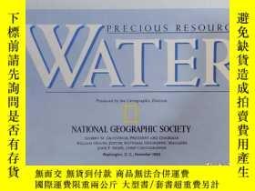 二手書博民逛書店National罕見Geographic國家地理雜誌地圖系列之1993年11月 Water The United