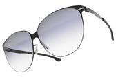 Ic! Berlin太陽眼鏡 SWING BLACK (霧黑-漸層藍鏡片) 簡約質感框 德國薄鋼工藝 墨鏡 #金橘眼鏡
