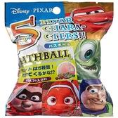 〔小禮堂〕迪士尼 造型入浴球《5款隨機.綠橘.大臉》入浴劑.泡澡球 4535304-69655