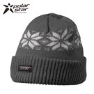Polarstar 反摺橫條羊毛保暖帽 P13606『灰』