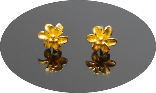 gold 黃金 耳環 金飾 保證卡 重量0.29錢 [ ge 061 ]