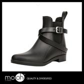短筒雨鞋 防水短靴 英倫時尚搭扣防滑雨靴 mo.oh (歐美鞋款)