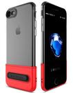 【默肯國際】APPLE IPHONE 7/8/SE2 7/8 PLUS 晶彩系列 TPU 撞色透明殼 手機支架 防摔 保護殼 背蓋