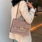 菱格錬條包包女斜背包新款潮單肩包大容量女網紅百搭時尚女包 Korea時尚記