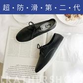 Ann'S第二代超軟真牛皮小清新附緞帶小白鞋-黑