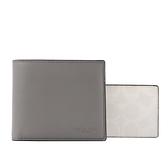 【COACH】平滑皮革附PVC活動式證件夾拼色短夾(灰色/奶茶/冰川白) C4333 QBSS2