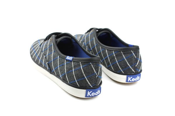 Keds CH WINDOWPANE PLAID BLACK 布鞋 休閒鞋 學院風 窗格 格紋 女鞋 深灰 黑色 9163W121886 no210