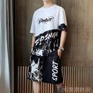 2021夏季薄款運動短袖T恤男士套裝韓版潮流東南亞跨境外貿男裝