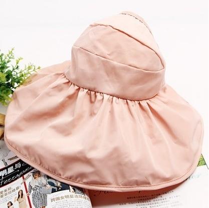 [協貿國際]韓國可折疊涼帽遮陽帽防曬帽子蝦粉色