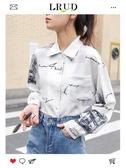 LRUD襯衫女設計感小眾2019春裝新款韓版長袖學生襯衣很仙的上衣潮