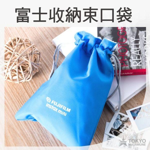 【東京正宗】富士 拍立得用 藍色 收納 束口袋 相機包收納包