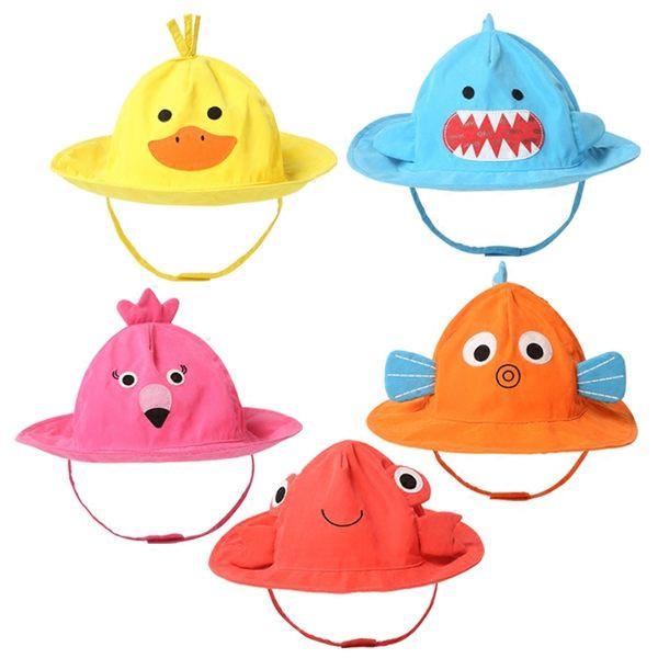 黑五好物節  卡通兒童帽子春夏男童女童遮陽帽可愛太陽帽0-6歲寶寶帽子漁夫帽  無糖工作室