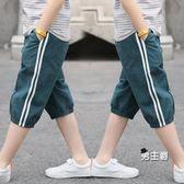 男童短褲夏季新品兒童七分褲中大童童裝中褲薄款休閒寬鬆褲子 特惠免運