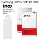 【iMos】3SAS系列保護貼 Samsung Galaxy Note 20 Ultra (6.9吋) 超潑水、防污、抗刮