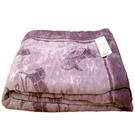CELINE經典馬車滿版LOGO保暖毛巾毯禮盒/被子/蓋毯/暖被/禦寒毛毯(粉紫)084102-2