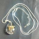 水滴造型天國的披巾琉璃白金十字架