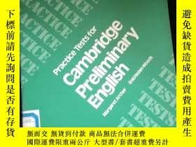 二手書博民逛書店Practice罕見Tests for Cambridge Preliminary EnglishY16149