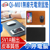 【1212購物節促銷】全新 IS愛思 Qi-M01無線充電滑鼠墊 智慧穩定輸出 皮革質感 輕薄平穩 定位精準