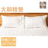 床具 大和雙層保護抗汙保潔枕墊(2入組) 45*75CM 台灣製造【LAA003】123ok