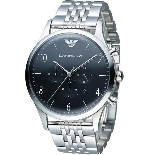 EMPORIO ARMANI Classic 簡約品味計時腕錶 AR1863