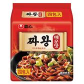 農心炸王醡醬麵辣味4入560G【愛買】